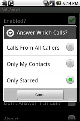 AutoAnswer Screenshot